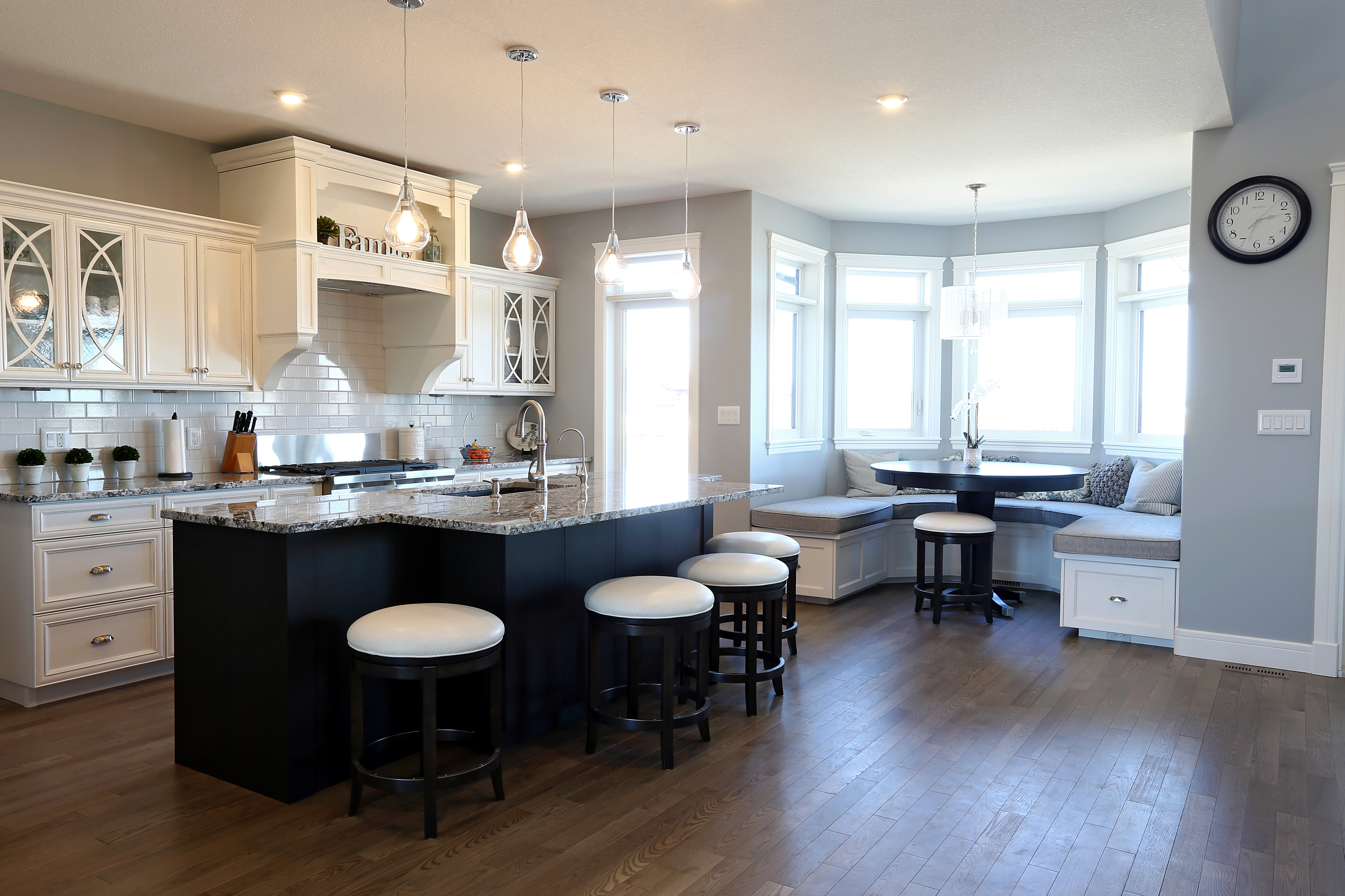 Emerald Park Homes White Custom Kitchen