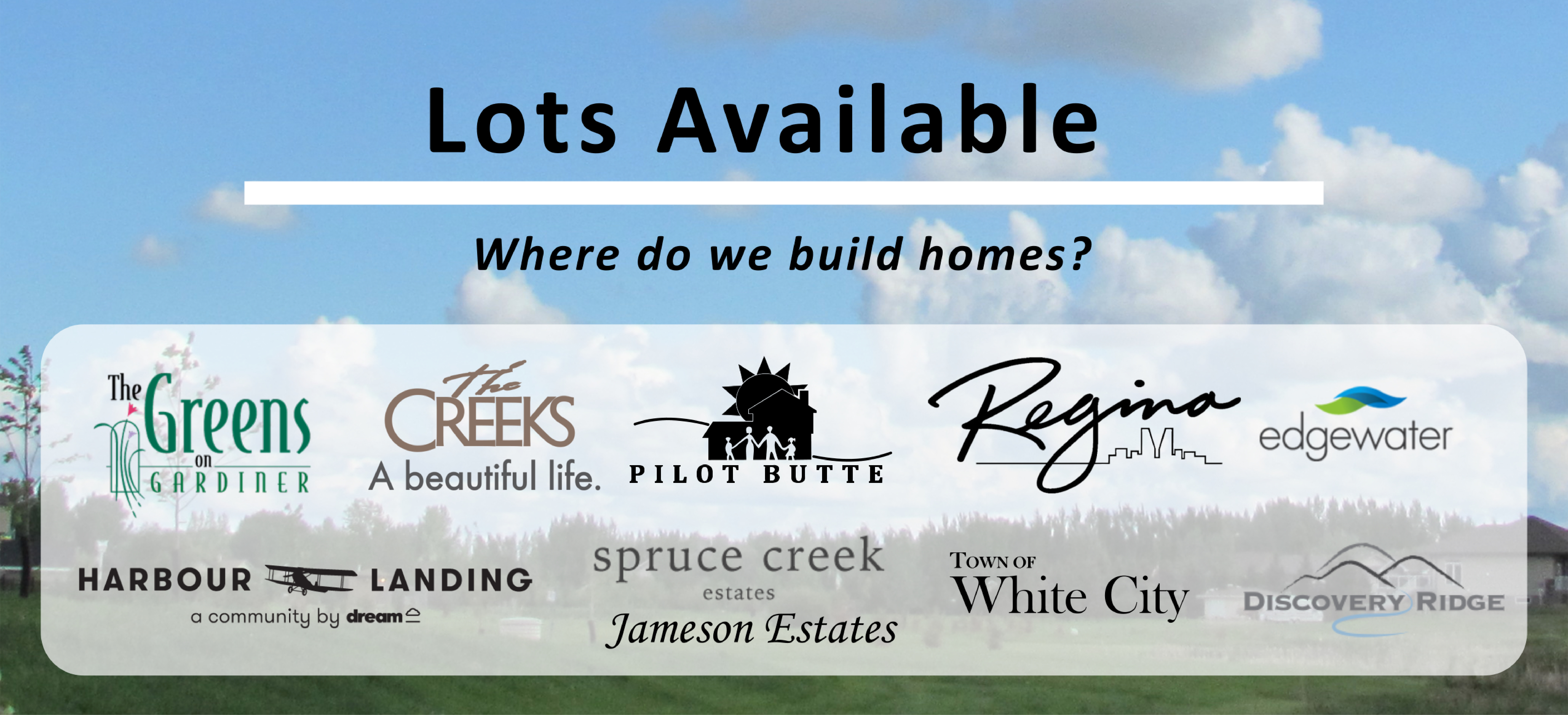Emerald Park Homes - Lots Available